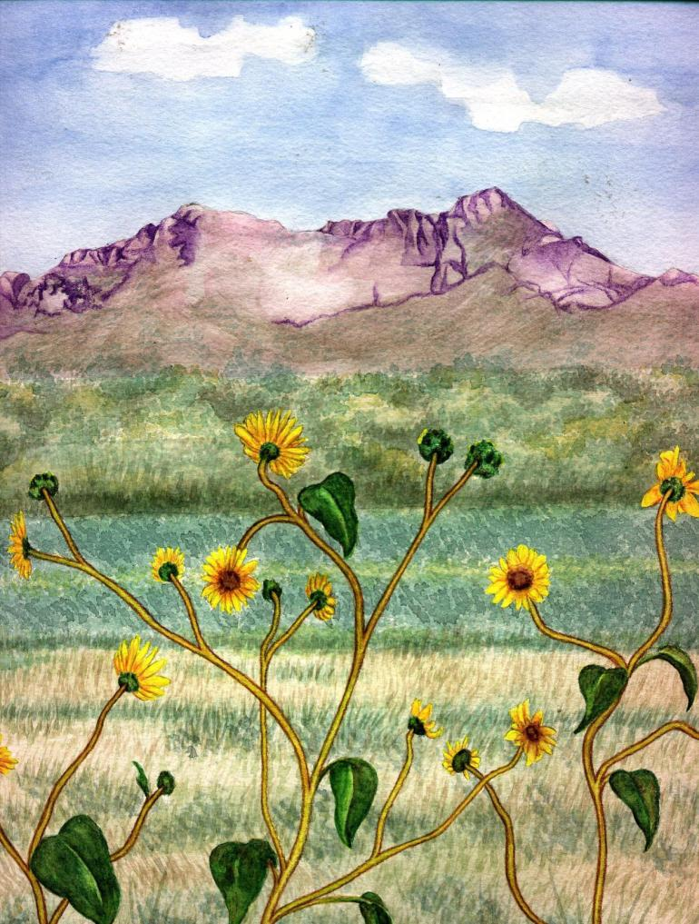 landscape watercolor original painting