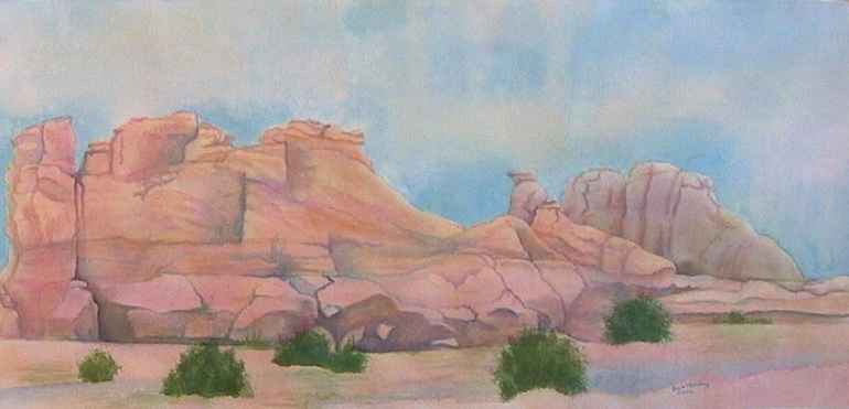 New Mexico landscape watercolor original painting