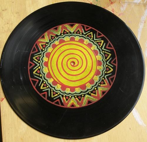 vinyl painting acrylic