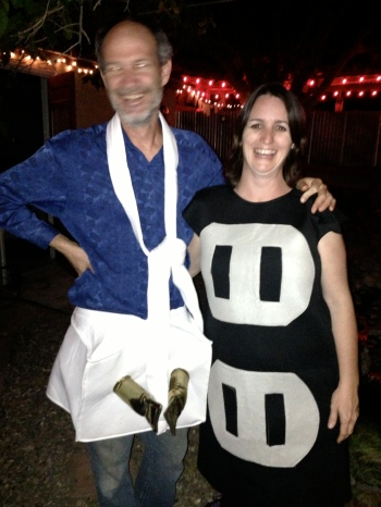 outlet and plug halloween costume photo