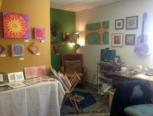 Paula Manning's studio space