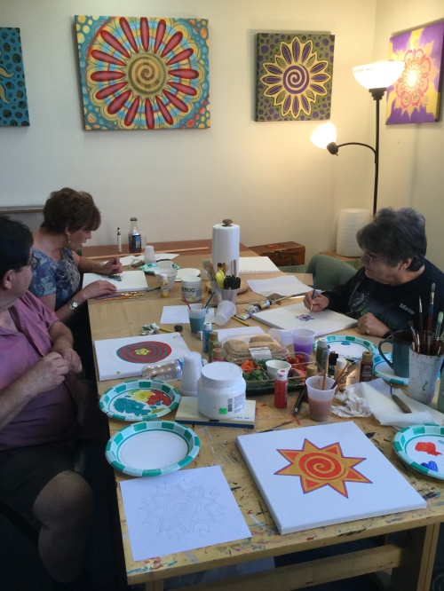 My first Mandala painting class!